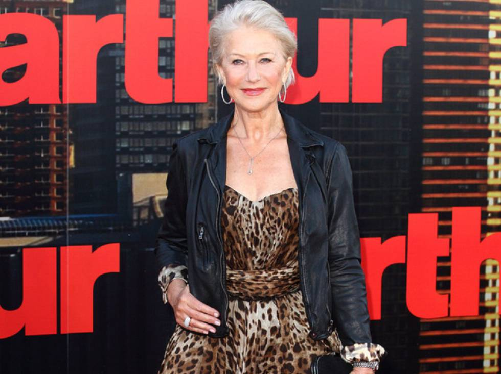 Las lecciones de estilo de Helen Mirren a sus 72 años