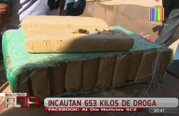Incautan 653 kilos de droga