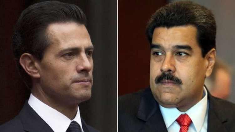 Enrique Peña Nieto y Nicolás Maduro