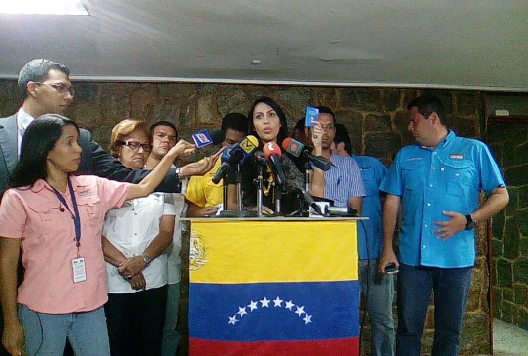 La diputada a la AN, Delsa Solórzano responsabilizó al ministro Reverol por las muertes durante las manifestaciones. Foto: @unidadvenezuela