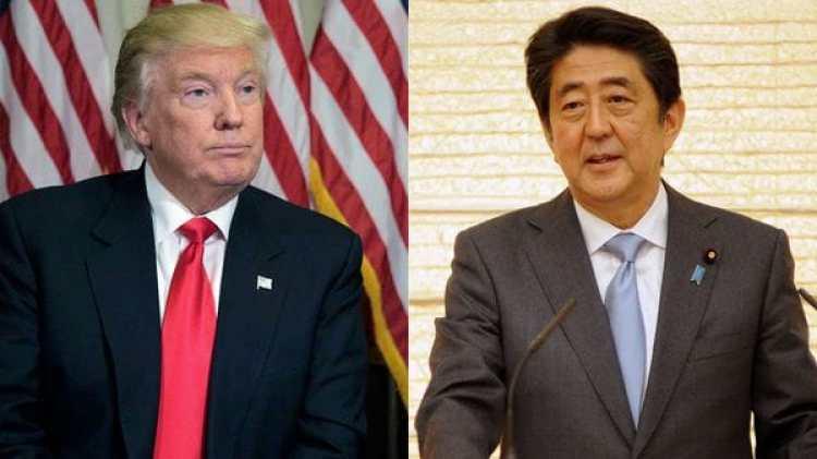 Trump y Shinzo Abe. (Reuters)