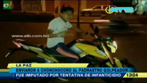 Envían a Chonchocoro a sujeto que flageló a su hijastro de 3 años
