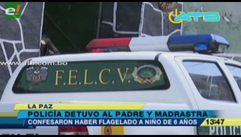 Policía rescató a niño de 6 años que era flagelado por su padre y madrastra