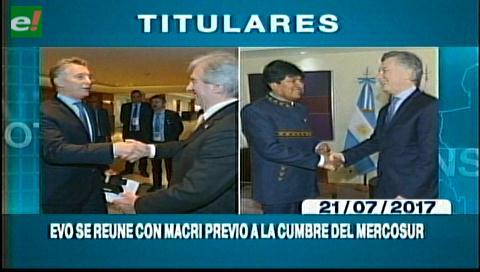 Video titulares de noticias de TV – Bolivia, mediodía del viernes 21 de julio de 2017