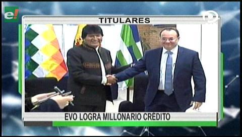 Video titulares de noticias de TV – Bolivia, noche del martes 4 de julio de 2017