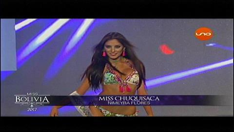 Miss Bolivia 2017: Candidatas en traje de baño