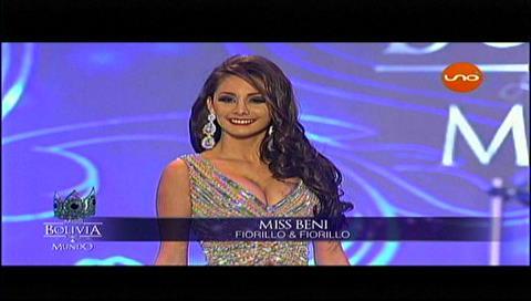 Candidatas al Miss Bolivia 2017 en traje de gala