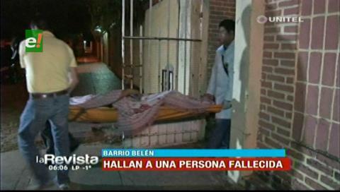 Hallan el cadáver de un hombre en el barrio Belén
