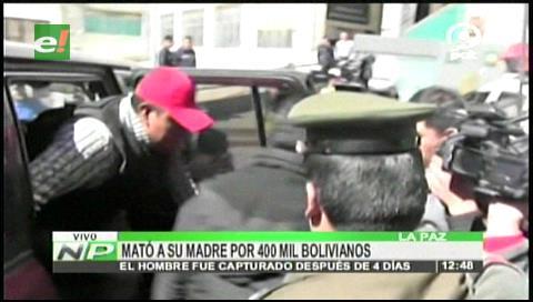 La Paz: Sujeto mató a su madre por 400 mil bolivianos