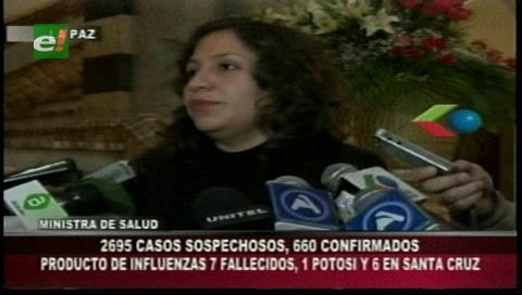 Salud reporta 660 casos confirmados de influenza H3N2 y 61 de H1N1