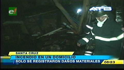 Incendio en una barraca en el barrio Pillín