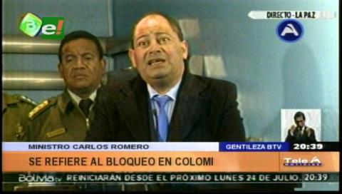Romero lamenta que cocaleros de Colomi mantengan bloqueo y desinformen a la población