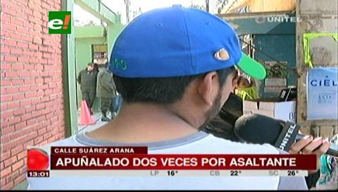 Joven es apuñalado por robarle 5 bolivianos