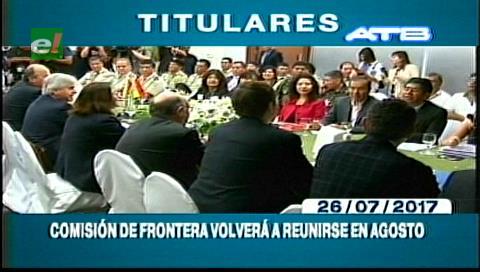 Video titulares de noticias de TV – Bolivia, mediodía del miércoles 26 de julio de 2017