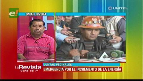 """Fejuve y COB anuncian bloqueos y movilizaciones contra el """"tarifazo"""" eléctrico"""