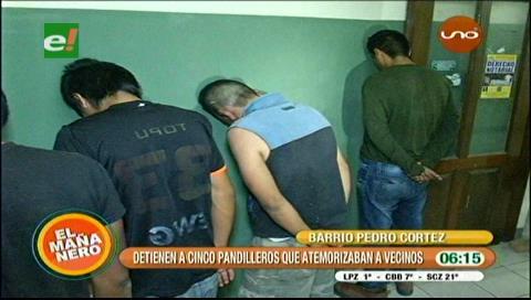Detienen a 5 presuntos pandilleros que atemorizaban a vecinos