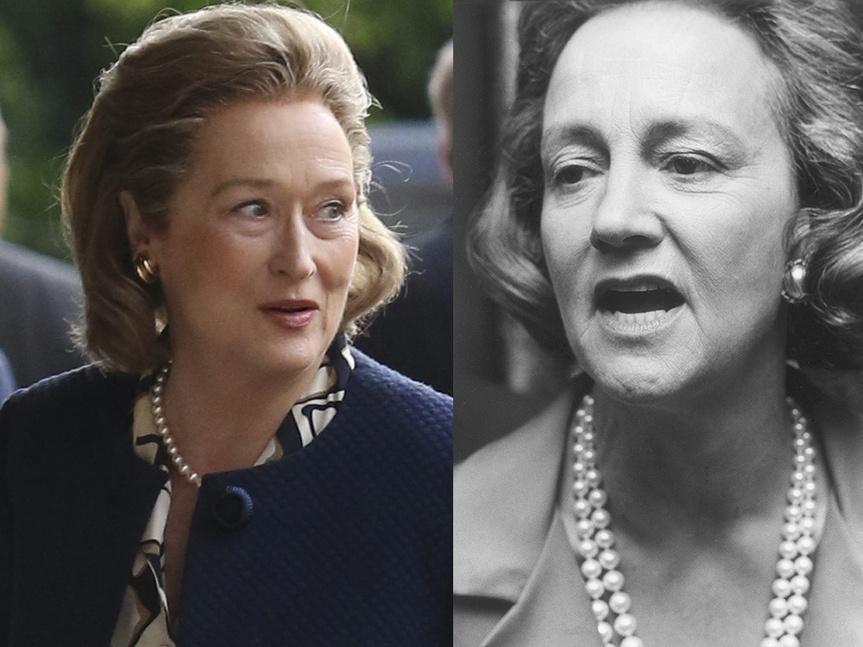 Meryl Streep y Katharine Graham