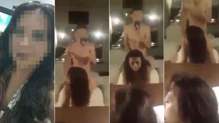 Imágenes del video que habría sido filmado por un alumno