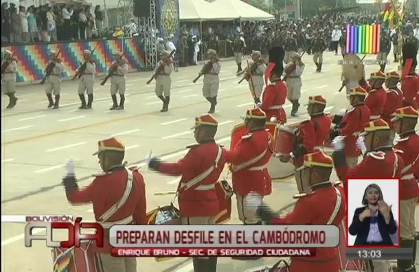 Preparan desfile en el cambódromo para las Fiestas Patrias
