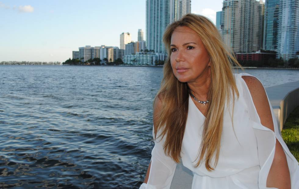 La actriz Jeannette Rodríguez en Miami, donde reside.