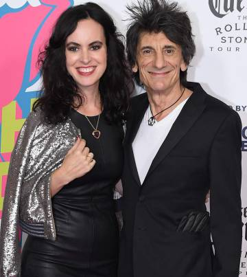 Sally Humphreys y Ronnie Wood, en Nueva York.