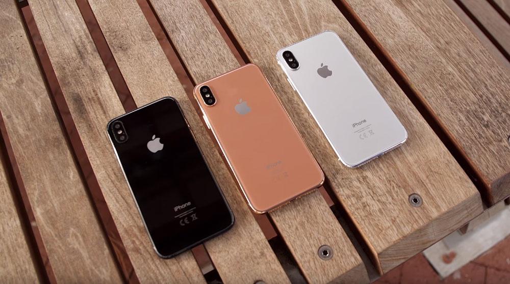 Colores disponibles del iPhone 8