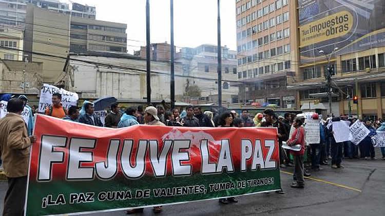 Resultado de imagen de Fejuve de La Paz