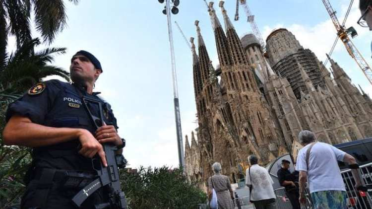 Fuerte operativo de seguridad en Barcelona (AFP)