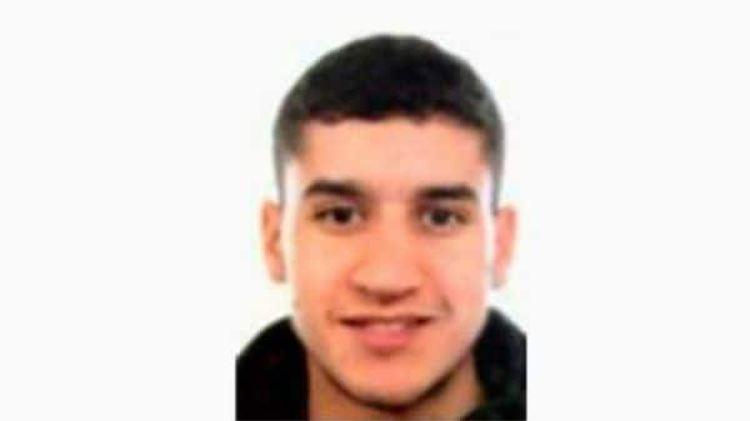 Una foto de Younes Abouyaaqoub provista por las autoridades