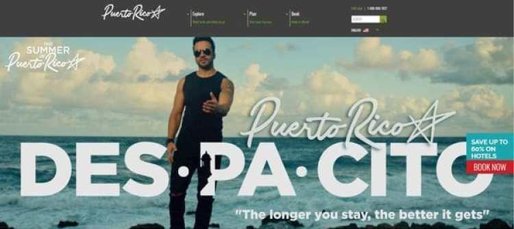El sitio oficial de Turismo de Puerto Rico promociona Despacito con Luis Fonsi y deja afuera a Daddy Yankee, lo que enfureció al artista