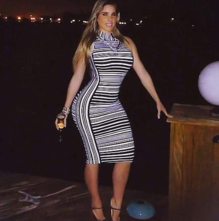 La modelo fue detenido cuando salía del Club Eleven en Miami