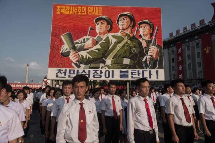 Los norcoreanos marcharon luego de la última prueba nuclear. (AFP)