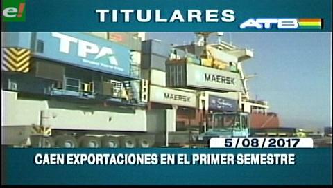 Video titulares de noticias de TV – Bolivia, mediodía del martes 15 de agosto de 2017