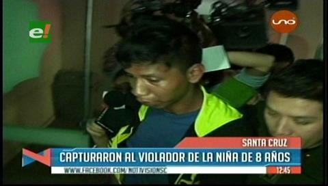 Detienen a violador de niña de 8 años en Roboré