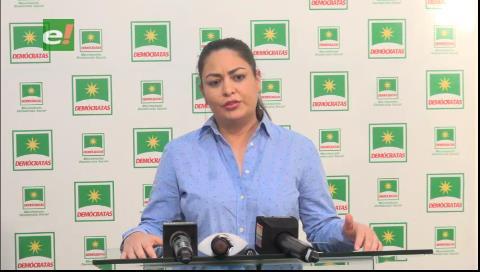 Senadora cuestiona apoyo a Maduro: Presidente, diga si quiere imponer en Bolivia el modelo de la dictadura venezolana