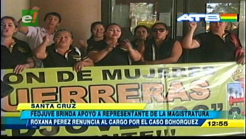 Fejuve exige la restitución de la ex magistrada Roxana Pérez