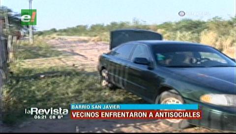 Vecinos logran atrapar a dos de cuatro delincuentes en el barrio San Javier