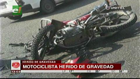 Dos heridos tras chocar un camión con una moto