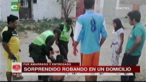 Vecinos golpean a sujeto que fue sorprendido intentando robar un domicilio