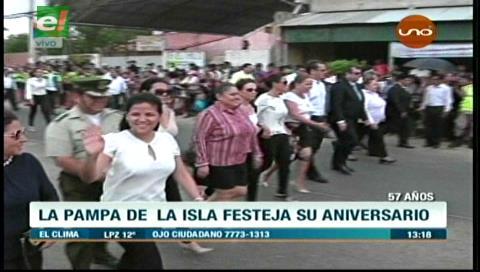 Rinden homenaje a la Pampa de la Isla