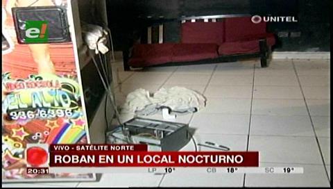 Ladrones robaron artefactos y dinero a rockola de Satélite Norte