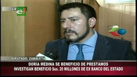Diputado Zavaleta: Doria Medina fue favorecido por gobiernos neoliberales gracias al cierre del Banco del Estado