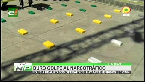 La Paz: Felcn decomisa 31, 4 kilos de cocaína y marihuana