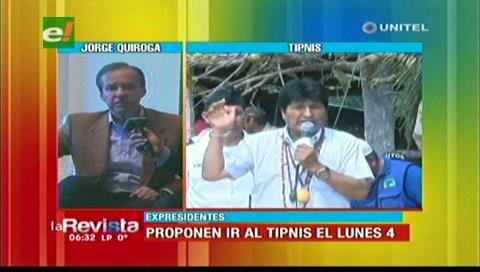 """Visita al TIPNIS: Tuto espera respuesta de Evo y llama """"neoliberales"""" a los cocaleros"""