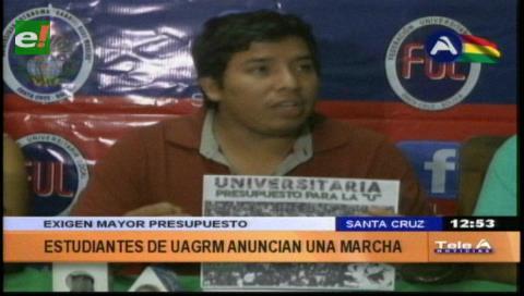 Universitarios marcharán exigiendo mayor presupuesto