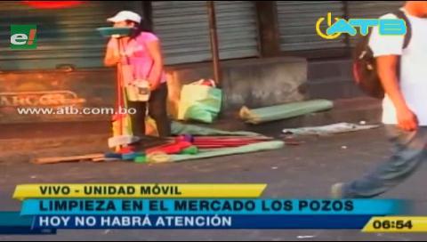 Se realizó limpieza en el mercado Los Pozos