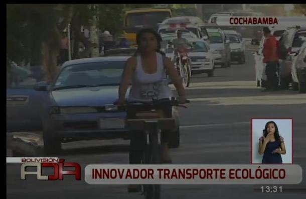 Implementan innovador sistema de transporte en bicicleta
