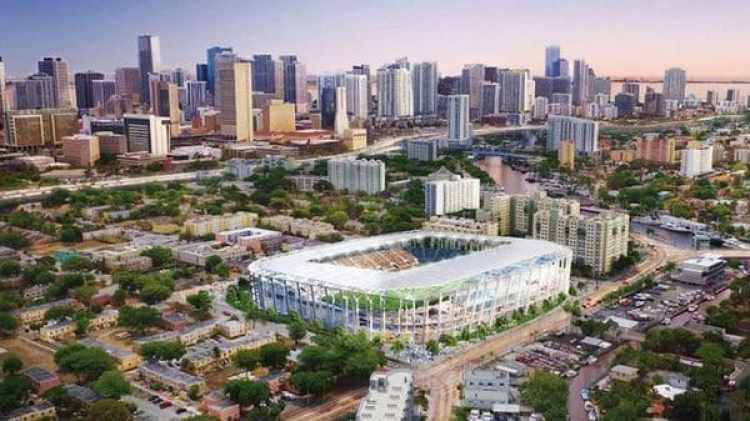 El proyecto de Beckham en el MLS también incluye la construcción de este estadio en Miami