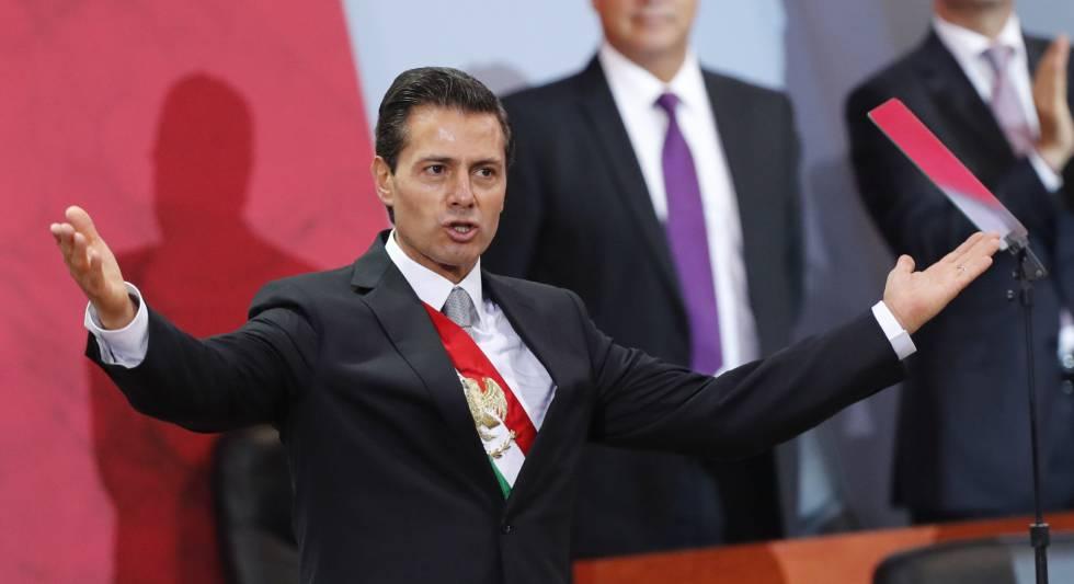 Peña Nieto, durante el quinto informe a la nación.