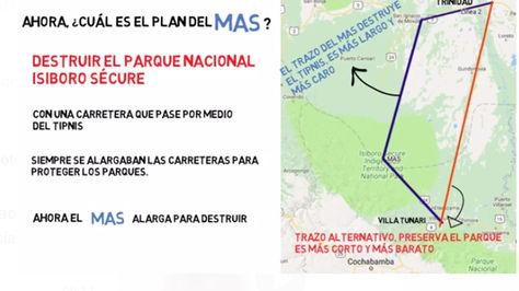 El expresidente Jorge Quiroga cuestiona vía por medio del TIPNIS en un material publicado en RRSS